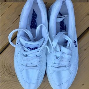 Avia White Canvas Sneakers-Size 8